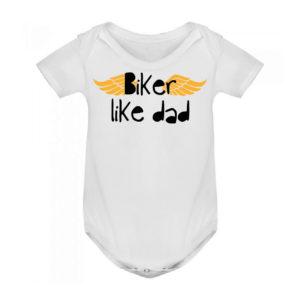 BIKER LIKE DAD bodie blanco bebé