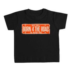 BORN 4 THE ROAD camiseta bebé negra
