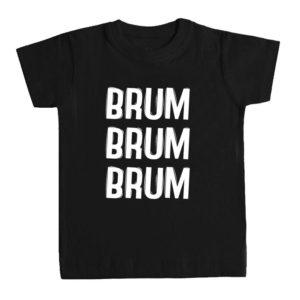 BRUM BRUM BRUM camiseta niños negra