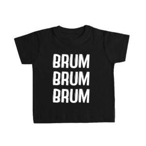 BRUM BRUM BRUM camiseta bebé negra