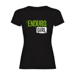 ENDURO GIRL camiseta mujer negra