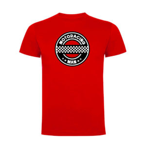 MOTORACING MAN camiseta hombre roja