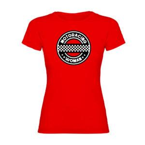 MOTORACING WOMAN camiseta mujer roja