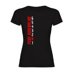 PURE ADRENALINE camiseta mujer negra