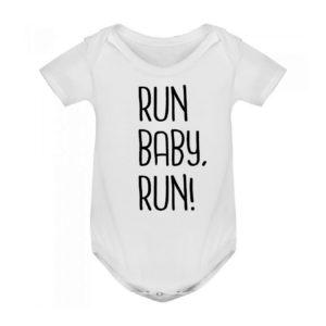 RUN BABY RUN bodie blanco bebé